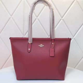 Coach City Tote - Watermelon Red
