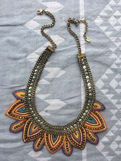 FIORELLI colourful tribal style necklace