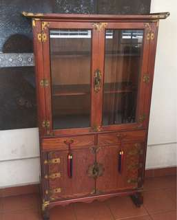 ORIENTAL KOREAN GLASS CABINET(M) -Free Delivery!
