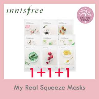[PO] 1+1+1! Innisfree My Real Squeeze Masks