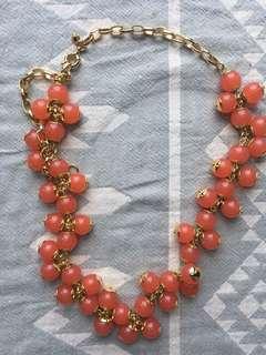 J CREW costume jewellery - orange bead necklace