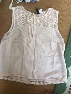 H&M embroidered shell top