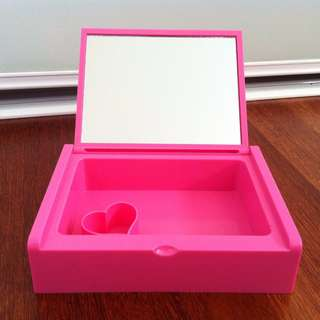 Pink Plastic Jewellery Box