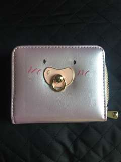 Iridescent Pink Bear Wallet