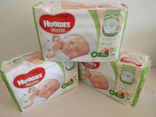 Huggies 0號紙尿片