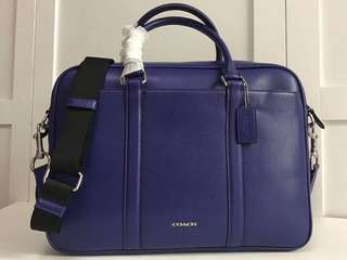 Coach Slim Brief in Crossgrain leather/ men's office bag / office brief case coach