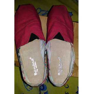 Banana Red shoes