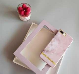 粉色大理石紋 iphone6/7 電話軟殼