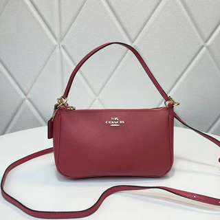 Coach Top Handle Pouch - watermelon red