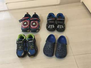 PL Stride Rite/Crocs Shoes - C10/11; 10W, 12M, 13W