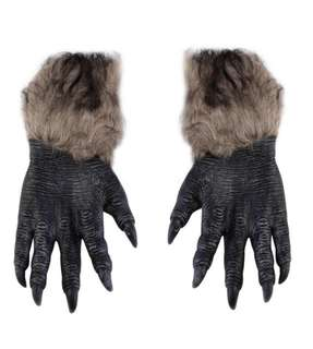 Sarung tangan halowen werewolf