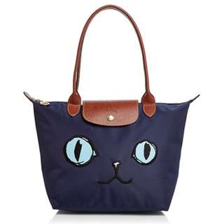 Longchamp 2018 Le Pliage Miaou Cat Small 貓貓袋 長柄