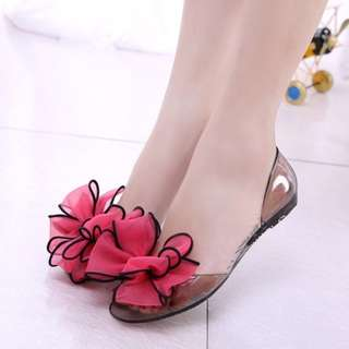 Jelly Rose Flat Shoes