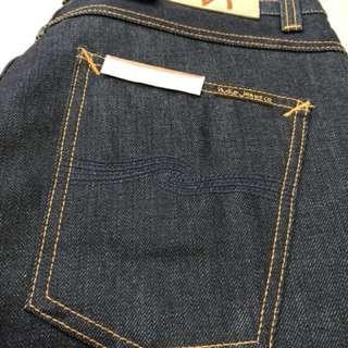 Nudie Jeans Dude Dan Dry Classic Navy W32 L34