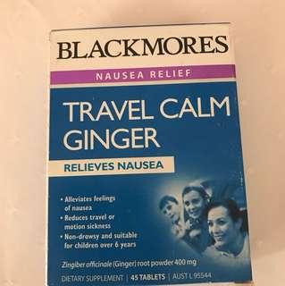 Blackmores Travel Calm Ginger pills