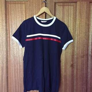 Tee boyfriend navy stripes