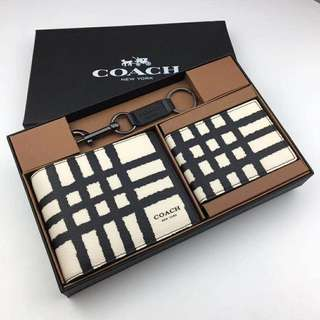 Coach men's wallet set