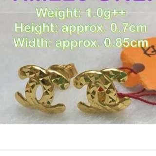 916 Gold CC earrings