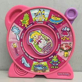 Fisher-Price Mattel 2007 See 'n Say Princess Says Pink Talking Toy