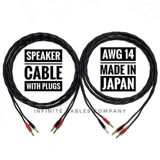 3-METER SPEAKER CABLE WITH PLUGS (CANARE 2S9F)