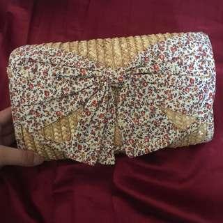 Floral Straw Cute Handbag