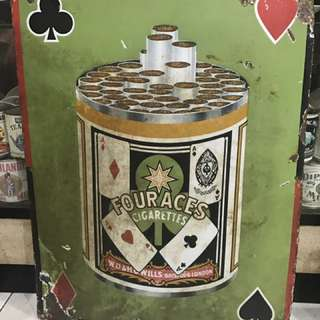 Vintage Four Aces Enamel Sign