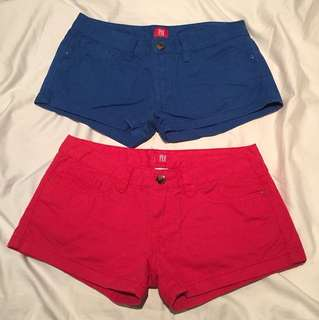 Blue and Red Hot pants
