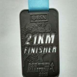 Medal BSN Putrajaya Night Marathon 2015