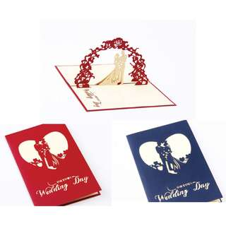 3D POP UP -Lover Wedding Gift Card👰💏💑