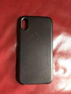 全新IPhone X 黑色機殻 仿皮 Case