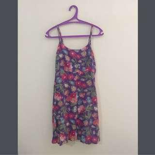 flower mini dress 90% good condition