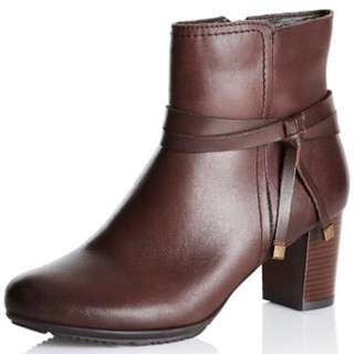 Rivers Zenta Ruched leather boots