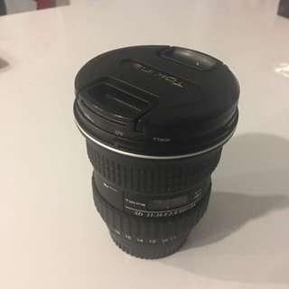 Tokina 11-16mm nikon lense