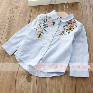 Embroidery shirt for girl
