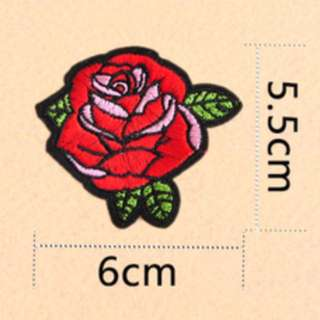 Iron on patch, flower embroidery (medium size)