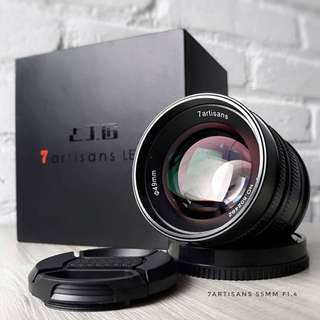 7artisans 55mm F1.4 (available FX mount)