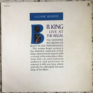 B.B. King ‎– Live At The Regal LP