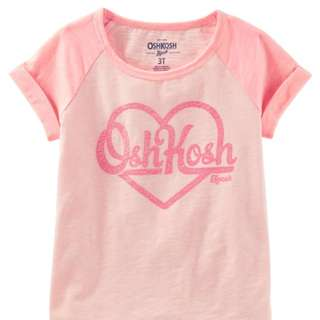 OshKosh Logo Glitter Tee