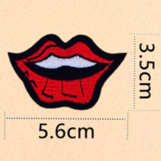 Iron on patch, lips (4 different types)