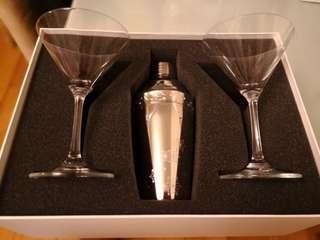 全新Swarovski 調酒器加兩隻馬天尼酒杯!送禮徍品