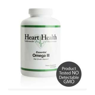 Heart Health™ Essential Omega III Fish Oil with Vitamin E