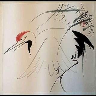 香港著名畫家 莫一點 <鶴壽千年>