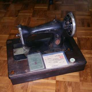 1935 Singer Sewing; sale bill,manual& Delivery