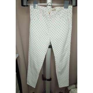 Pazzo Polka Dots White Pants