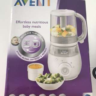 Avent 4 in 1 healthy baby food maker plus 2 reusable storage box