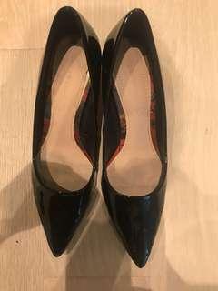 Zara Transparent Mid-Heel Court Shoes