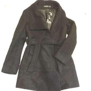 🚚 翻領大衣單釦毛呢外套