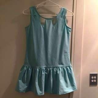 [NEW] Mint Keyhole Drop Waist Dress