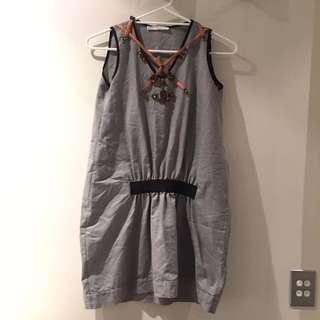 Bejewelled Sleeveless Dress