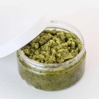 Japanese matcha body screen green tea face scrub natural sugar facial scrub anti aging